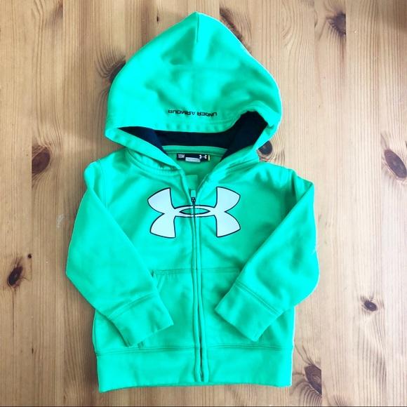 boys under armour zip up hoodie